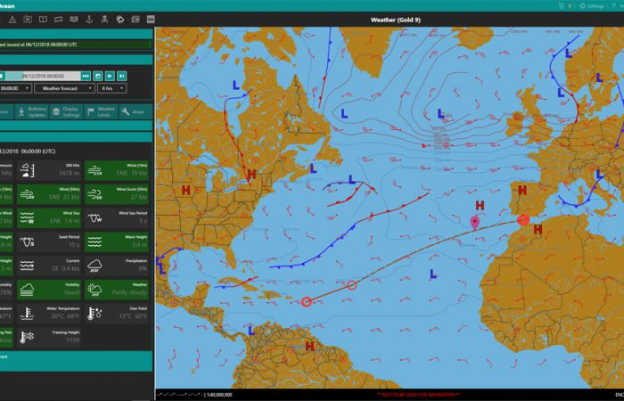 ChartCo Weather Gib to Antigua