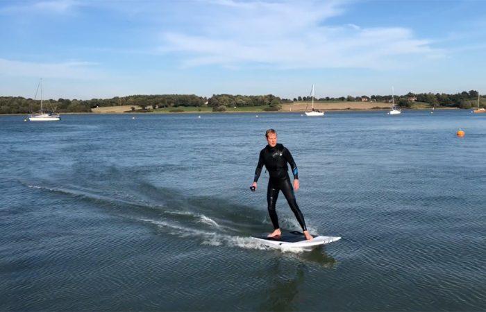 Luke Porter surfing