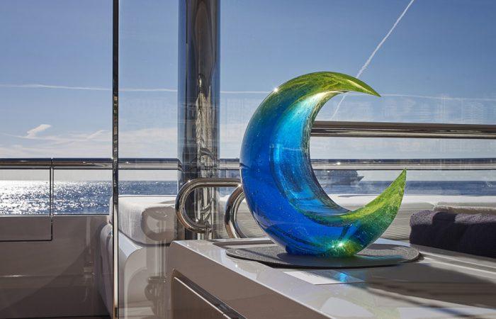 artwork on board superyachts