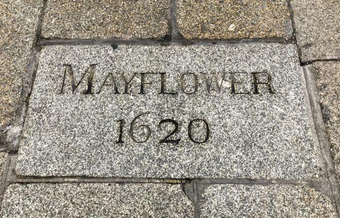 Entrance to Mayflower embarkcation steps