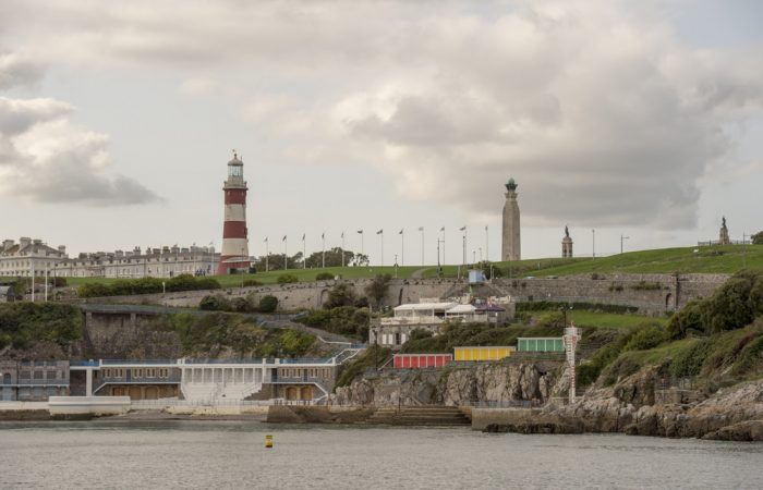 The Hoe with Smeaton's Tower and the Lido