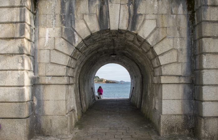 The arch at Firestone Point in Royal William Yard